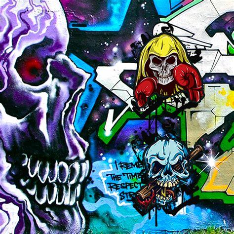 gambar keren grafiti tengkorak gambar keren