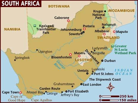 Search For In South Africa Map Of South Africa