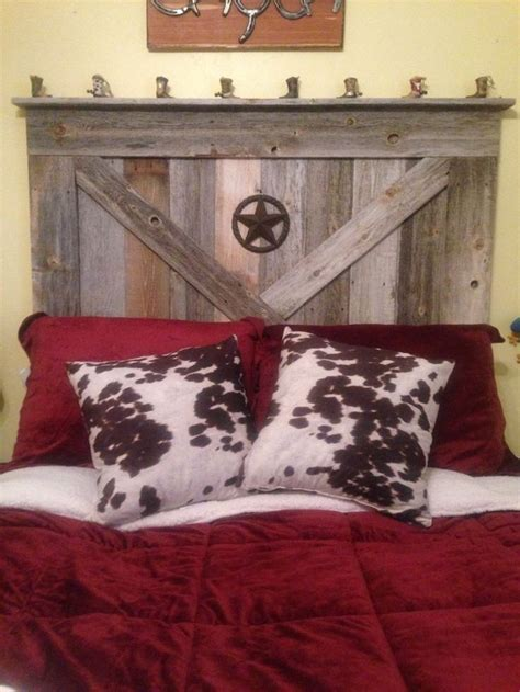 Western Headboards For Beds by Handmade Rustic Reclaimed Wood Barn Door Style Size