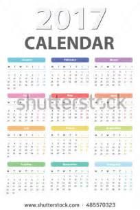 Syria Calendario 2018 Calendar 2017 Starts Monday Vector Calendar Stock Vector