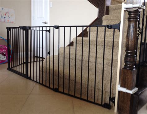 Safety Gates For Stairs With Banisters by Custom Baby Stairway Gate Baby Safety Dallas Baby Safe Homes