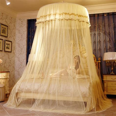 bedroom canopy lace top bed curtain mosquito