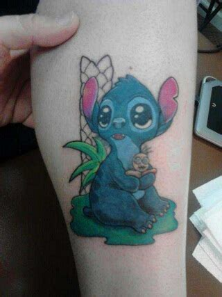 cute stitch leg tattoo tattoomagz