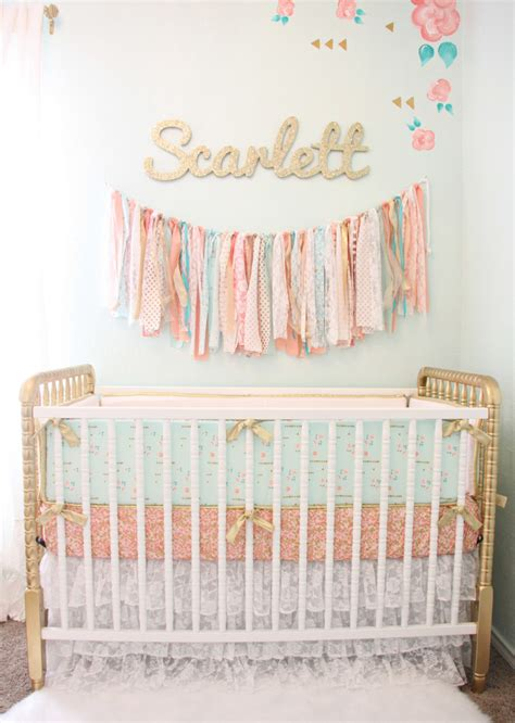 vintage inspired crib bedding vintage lace inspired mint and gold nursery