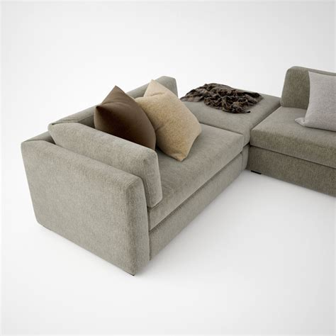 busnelli oh mar corner sectional sofa 3d model max obj