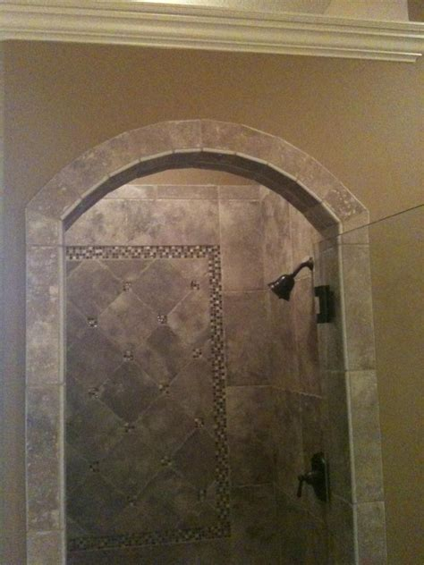 Shower Design With Arched Entrance American Olean Ash Bathroom Tile Designs For Showers