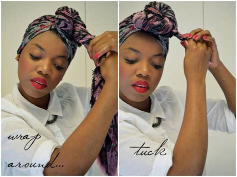 loc scarf wrapped hair style images google search locs how to tie hair wrap google search natural beauty