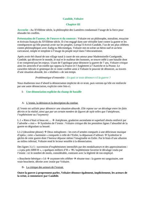 Resume Du Livre Jeannot Et Colin De Voltaire by Candide Resume Chapitre 3 Writingfixya Web Fc2