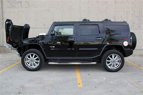 luxury hummer 2009 h2 hummer suv luxury package chrome wheels