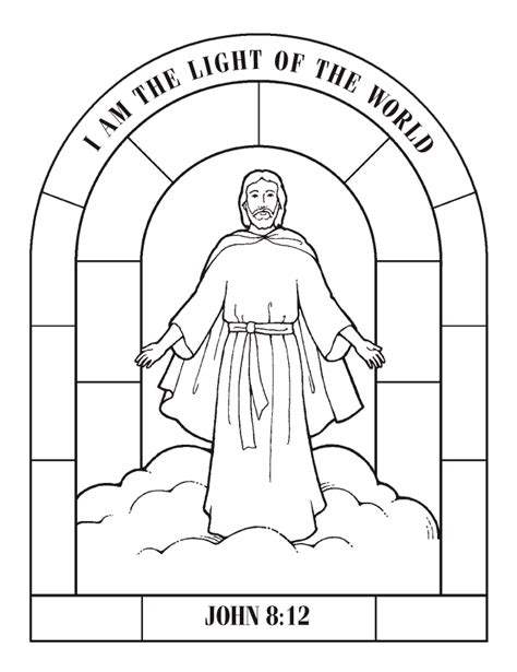 coloring page jesus coming again coloring pages
