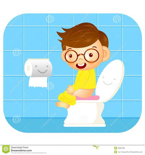 how to a to go potty outside going to the bathroom clipart 39