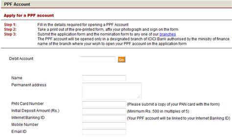 Letter Transfer Ppf Account Ppf Account In Icici Bank Apply
