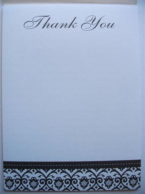 thank you writing paper thank you writing note pad paper black white formal