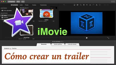 crear  trailer  imovie youtube