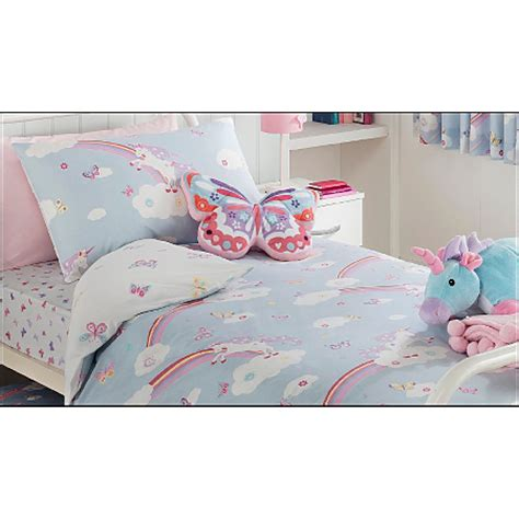 george home unicorn and butterfly print duvet single