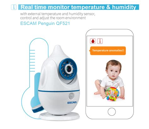 Escam Penguin Qf521 Wifi Baby Monitoring 1mp Cmos 720p escam penguin qf521 wifi baby monitoring 1mp cmos 720p white jakartanotebook