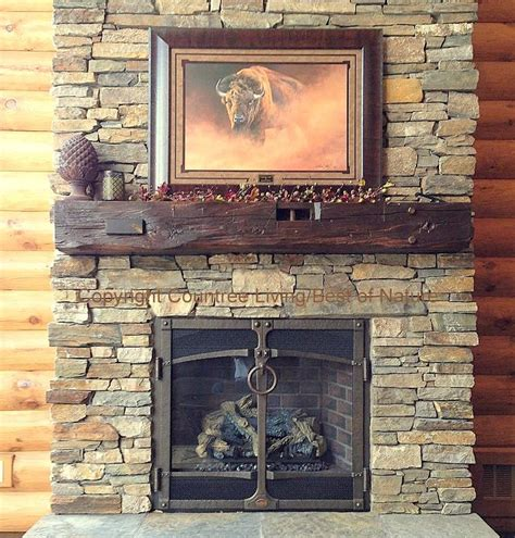 reclaimed wood fireplace mantel log mantels rustic