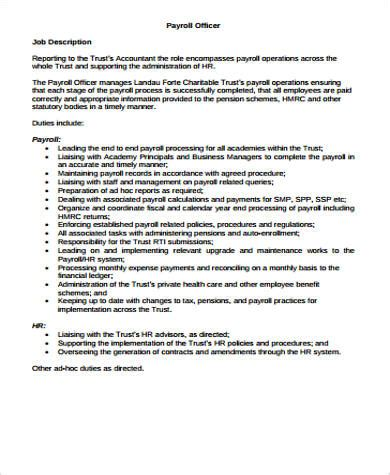 Payroll Specialist Description Create My Resume Best Payroll Specialist Resume Exle