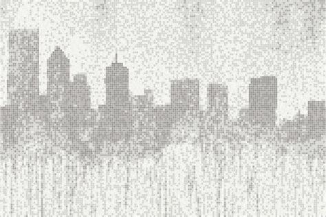 graphic tile white cityscape tile cityscape mist by artaic