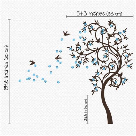 Stylish Wall Stickers stylish curved tree with birds wall sticker by wall art