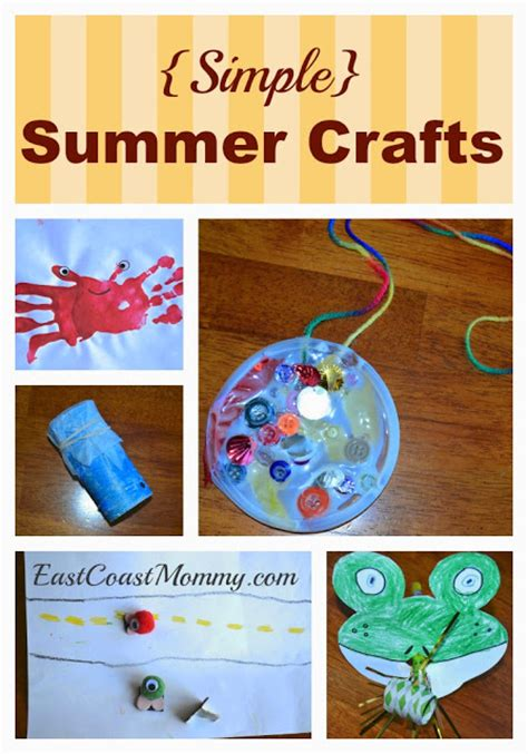 easy crafts for summer east coast 5 simple summer crafts