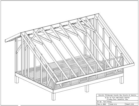 adirondack shelter plans  drawings shelter tent