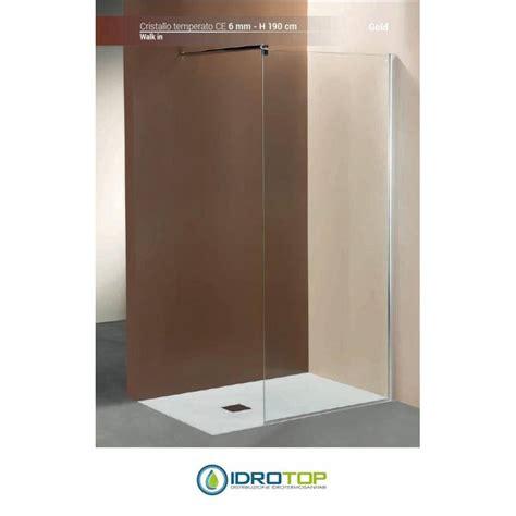 box doccia walk in box doccia walk in 100 cristallo trasparente 6mm telaio