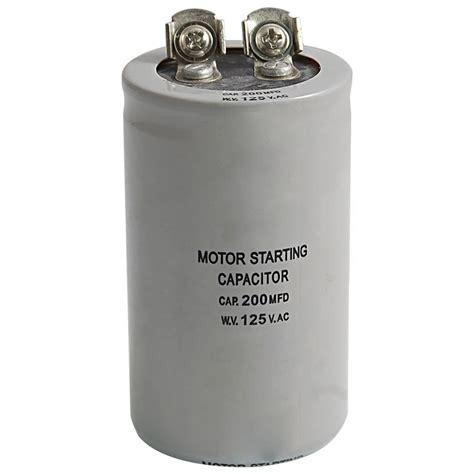 start capacitor voltage ac 125v 200uf 200mfd 2 terminals motor run start capacitor dt ebay
