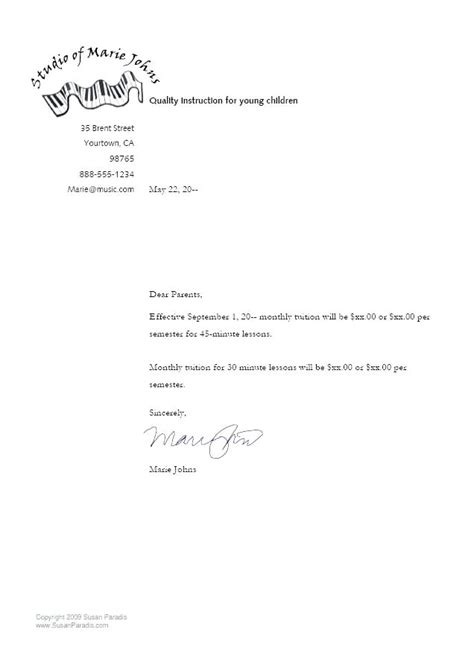 price increase letter template letter template price increase customer fresh salary