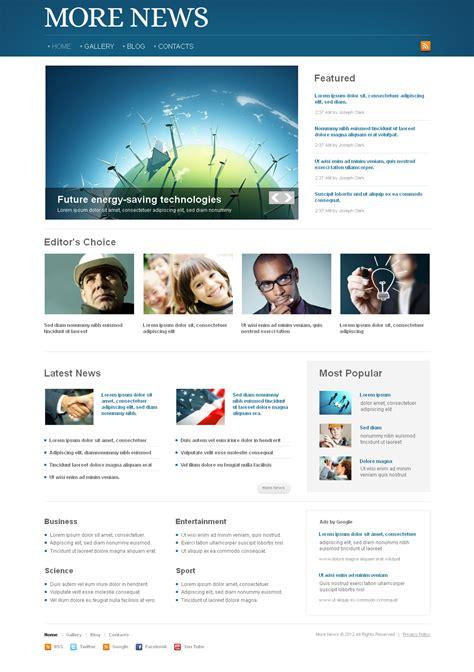 News Portal Moto Cms Html Template 41456 Html Template For News Website