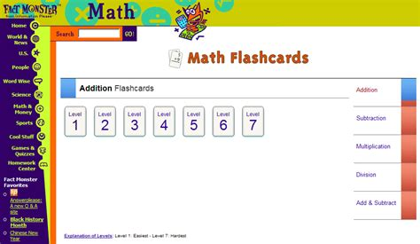 subtraction elementary home page