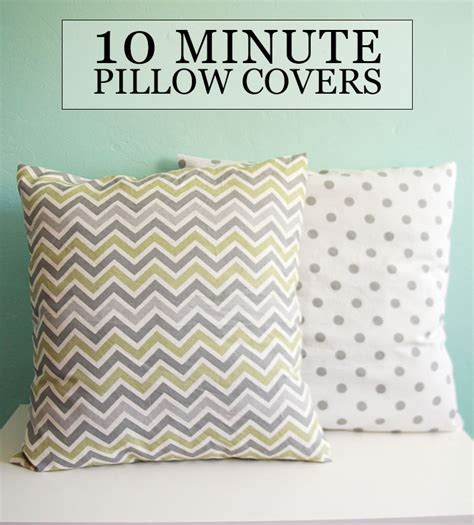 how to make a slipcover for a pillow diy tutorial sew 10 minute throw pillow covers aileen