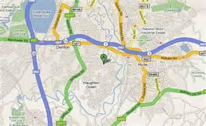 map of denton find us denton town fc