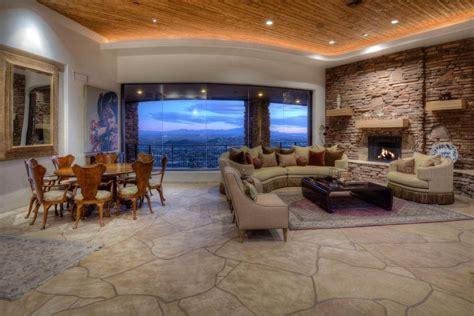 Living Room In Tucson Tour A Southwestern Style Mountain Estate In Tucson Ariz