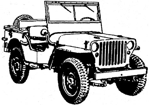 jeep wrangler front drawing willys jeep clipart 21