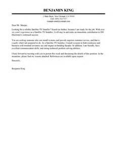 Chat Cover Letter by Satellite Tv Installer Cover Letter Sle My Cover Letter