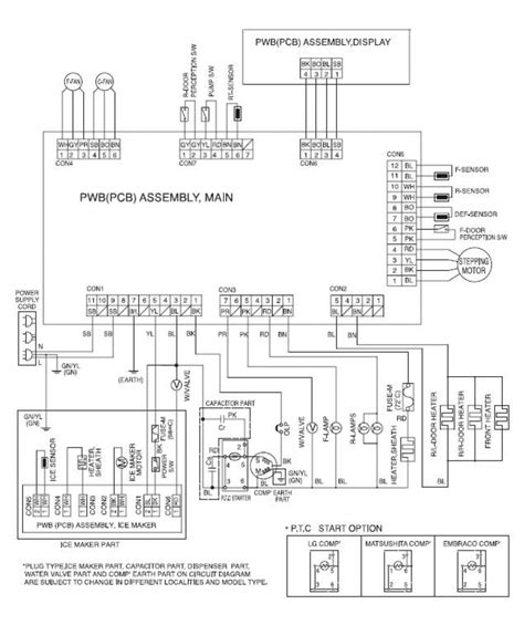 kenmore elite refrigerator wiring diagram fuse box and