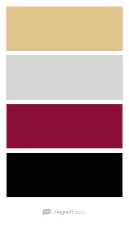 burgundy color palette gold silver burgundy and black wedding color palette