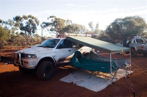 homemade cer awning post up your awning pirate4x4 com 4x4 and off road forum