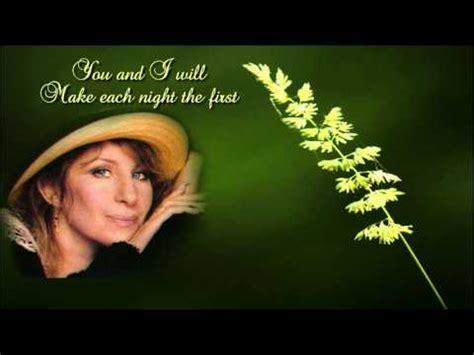 evergreen barbra streisand lyricshq youtube