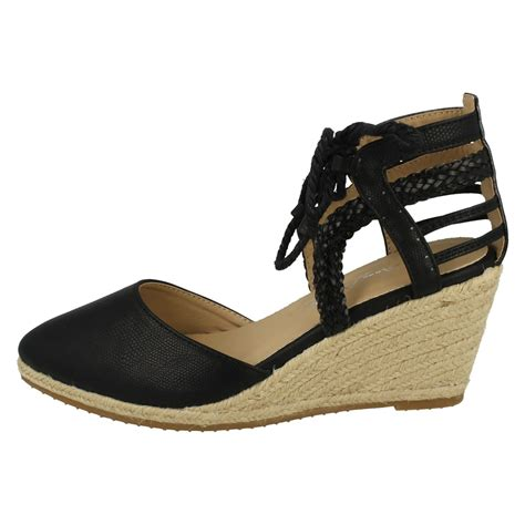 sandal merk fladeo uk 26 30 ankle lace up wedge sandals braided
