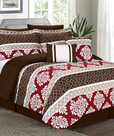 red and brown comforter set red brown riverside red comforter set contemporary