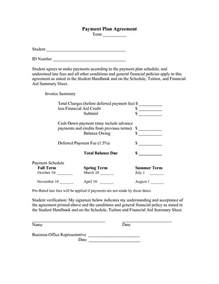 Payment Agreement Sle by Update 54079 Payment Agreement Template 39 Documents Bizdoska