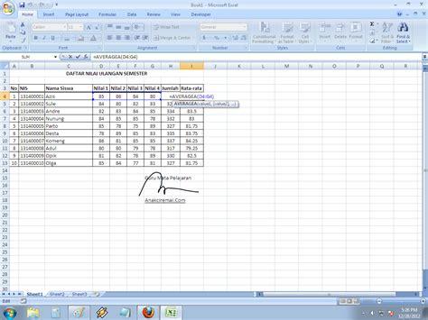 membuat grafik moving average di excel rumus average microsoft excel pengenalan rumus dan formula