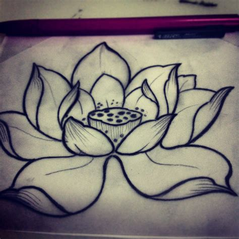 lotus flower tattoo tumblr beautiful lotus sketch small ideas