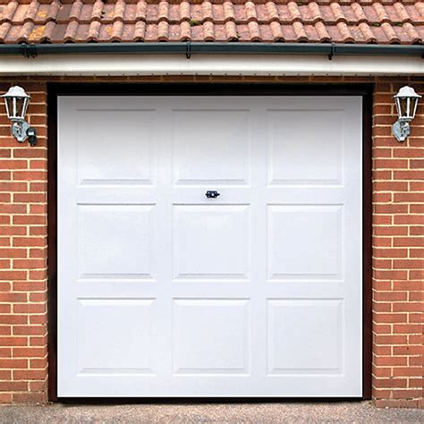 garage door images wickes georgian grp garage door white 2134 x 2135mm