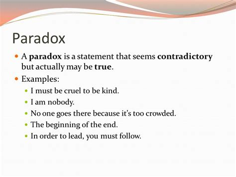 exle of paradox oxymorons and paradoxes ppt