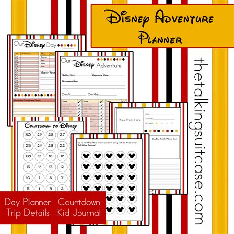 printable orlando holiday planner get ready for your disney vacation free printable disney