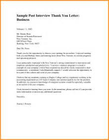 Thank You Letter Conclusion 8 Thank You For Exles Parts Of Resume