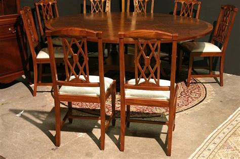 Mahogany Dining Room Furniture by Edwardian Inlaid Solid Mahogany Dining Room Chairs